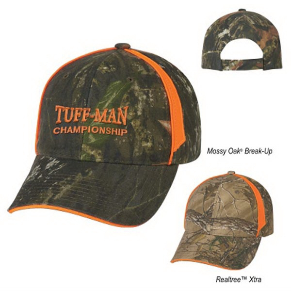 Realtree (TM) and Mossy Oak (R) Blaze Camouflage Cap