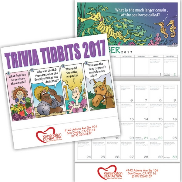 Kingswood Collection Trivia Tidbits Wall Calendar