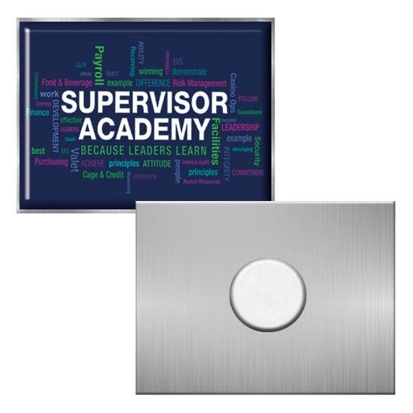 "1"" x 3/4"" Rectangle Express Vibraprint Magnetic Lapel Pin"