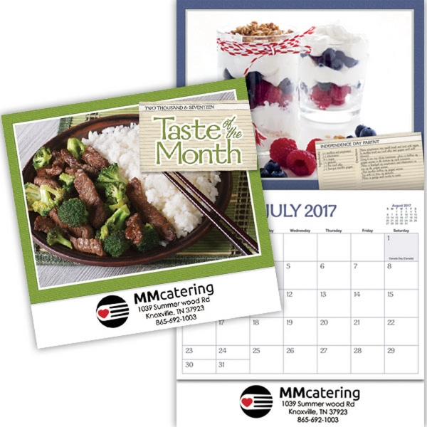 Kingswood Collection Taste of the Month Wall Calendar