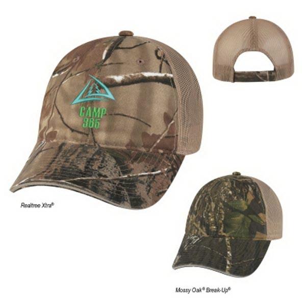 Realtree(TM) & Mossy Oak(R) Hunter's Hideaway Mesh Bk Camo Cap