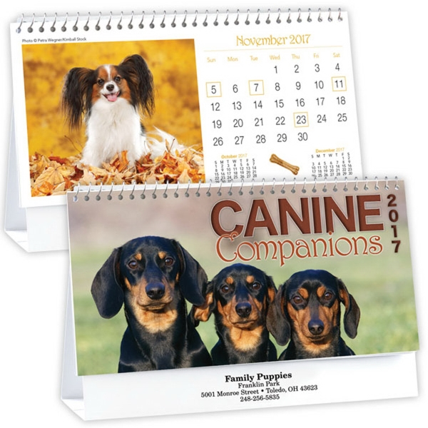 Kingswood Collection Canine Companions Desk Calendar