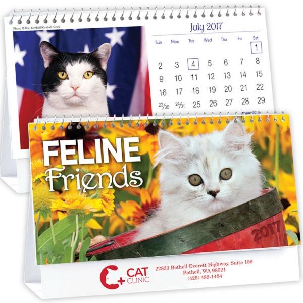Kingswood Collection Feline Friends Desk Calendar