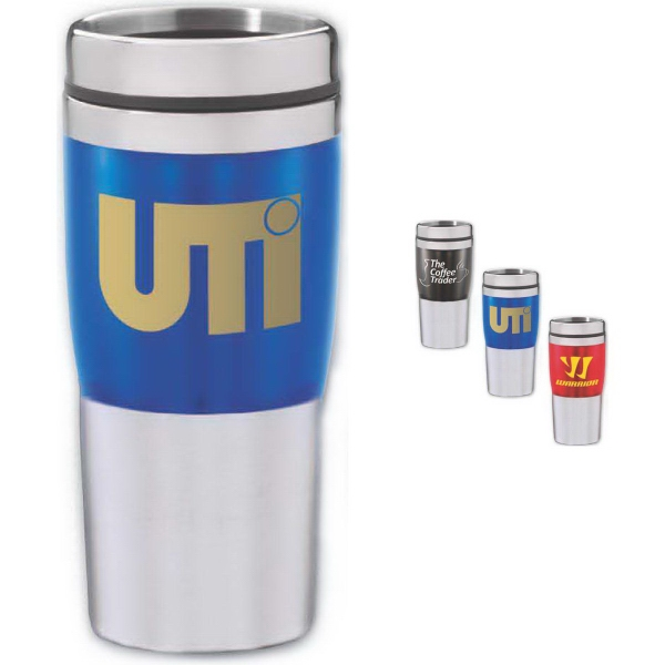 Brand Gear (TM) Pro Jewel Stainless Tumbler (TM) - Double wall insulated stainless steel tumbler, 16 oz.