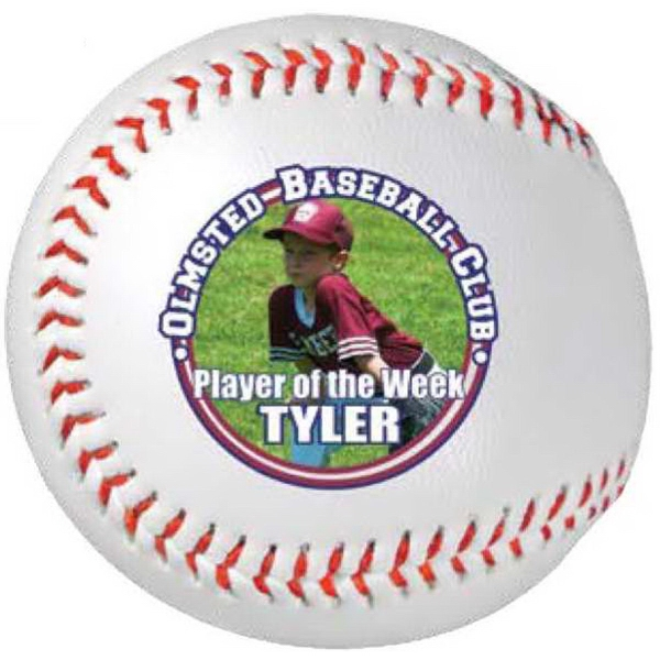 Full Color Direct Synthetic Leather Rubber Core Baseball