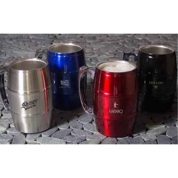 17 oz. Stainless Steel Barrel Mug