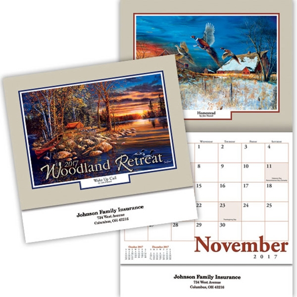 Kingswood Collection Woodland Retreats Wall Calendar