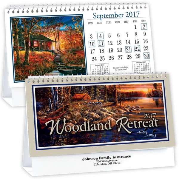 Kingswood Collection Woodland Retreats Desk Calendar