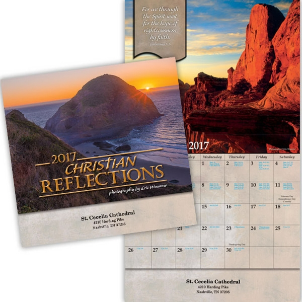 Kingswood Collection Christian Reflections Wall Calendar