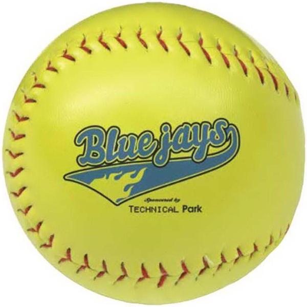 Optic Yellow Synthetic Leather Softball