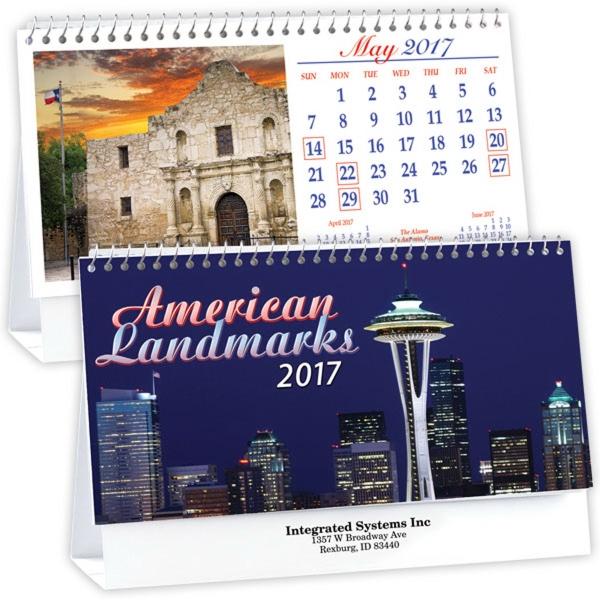 Kingswood Collection Historic Landmarks Desk Calendar