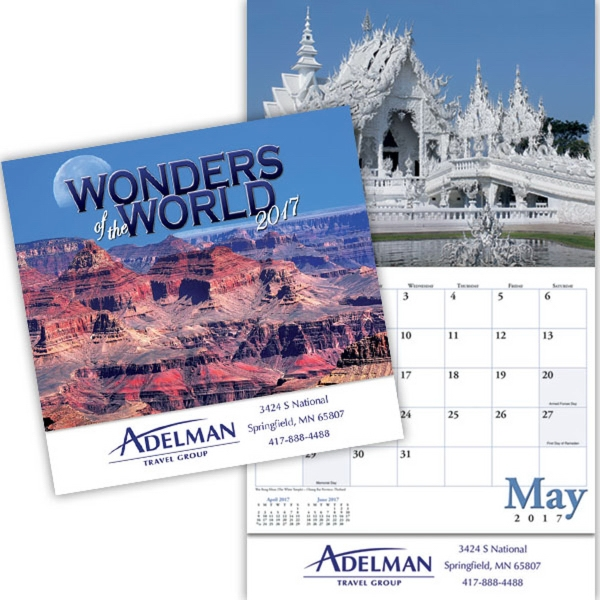 Kingswood Collection Wonders of the World Wall Calendar
