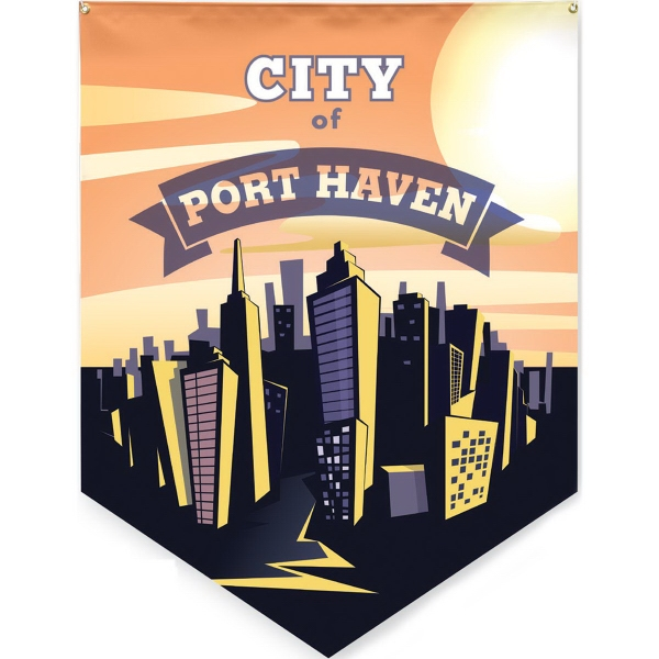 Full Color Large Durable Pennant Banner