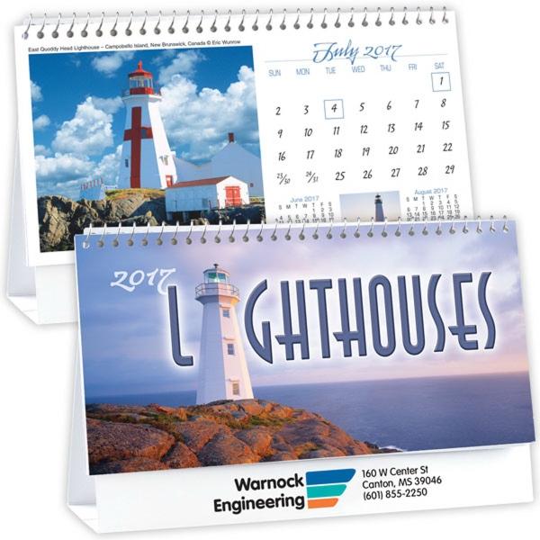 Kingswood Collection Lighthouses Desk Calendar