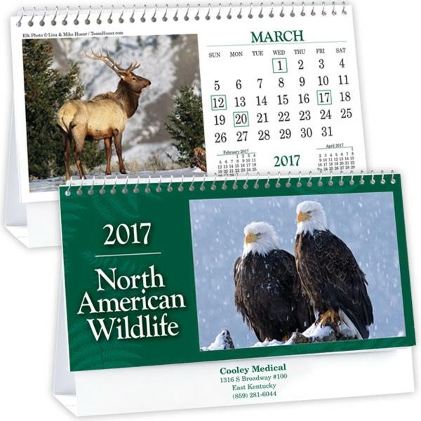 Kingswood Collection Wildlife Desk Calendar