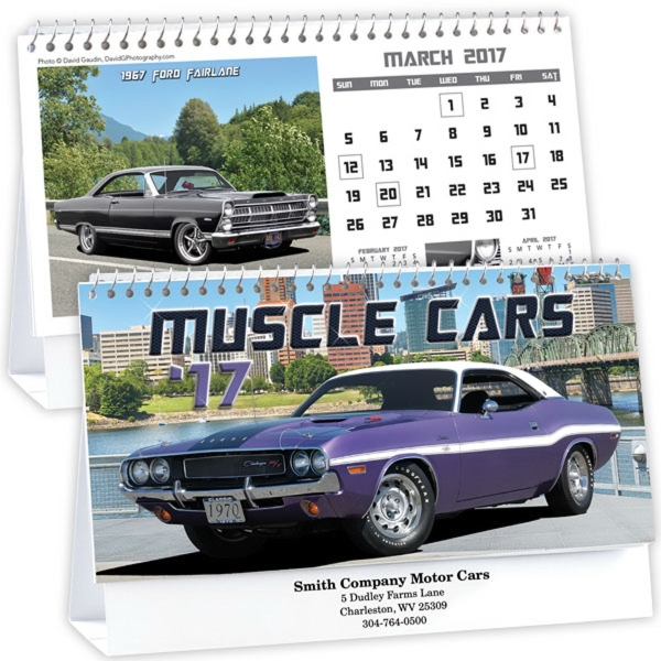 Kingswood Collection Muscle Cars Desk Calendar