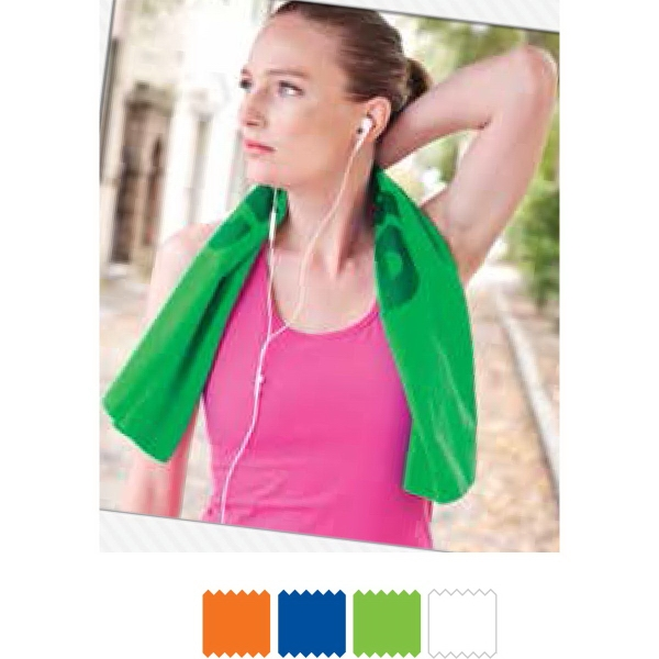 Microfiber Suede Fitness Towel - Microfiber suede fitness towel takes in 8 times its weight in water.