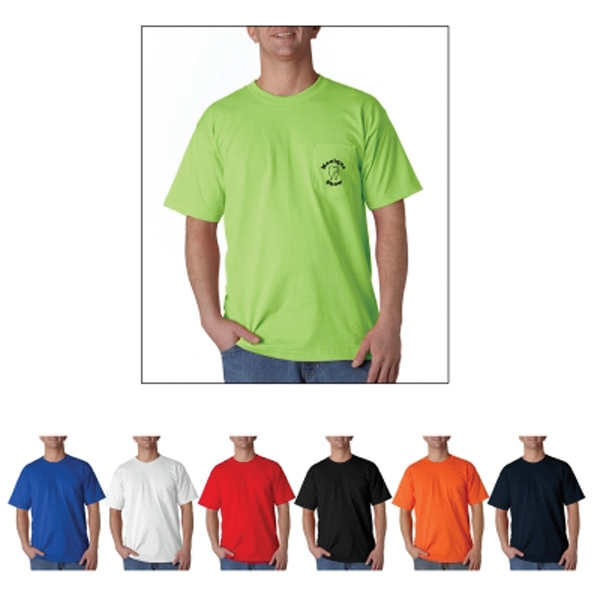 Bayside Adult Short-Sleeve Tee with Pocket