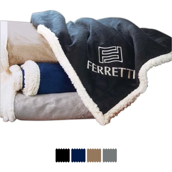 """The Fairfield Throw Blanket (TM) - Standard - The Fairfield Throw Blanket (TM) is constructed from micromink and faux lambswool. Standard, 50: x 60""""."""