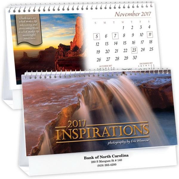 Kingswood Collection Insprirations Standard Desk Calendar