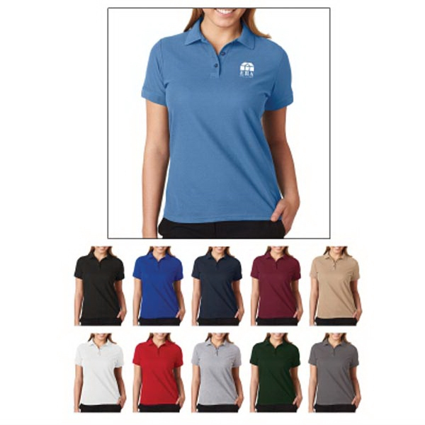 UltraClub (R) Ladies' Basic Blended Pique Polo