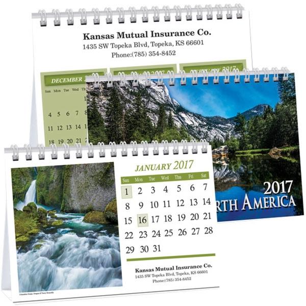 Kingswood Scenes Across America Executive Desk Calendar
