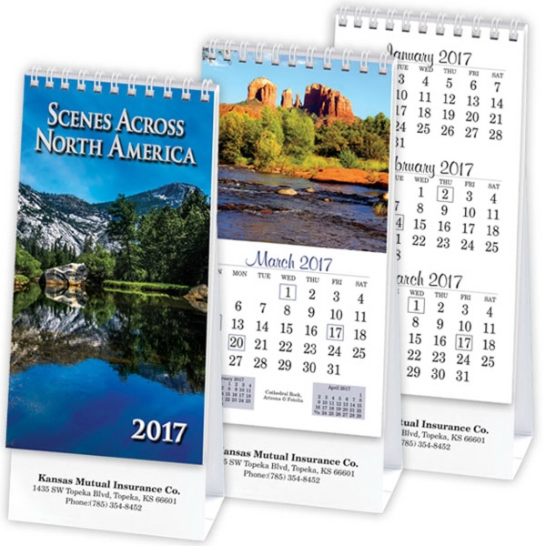Scenes Across America Vertical Desk Calendar