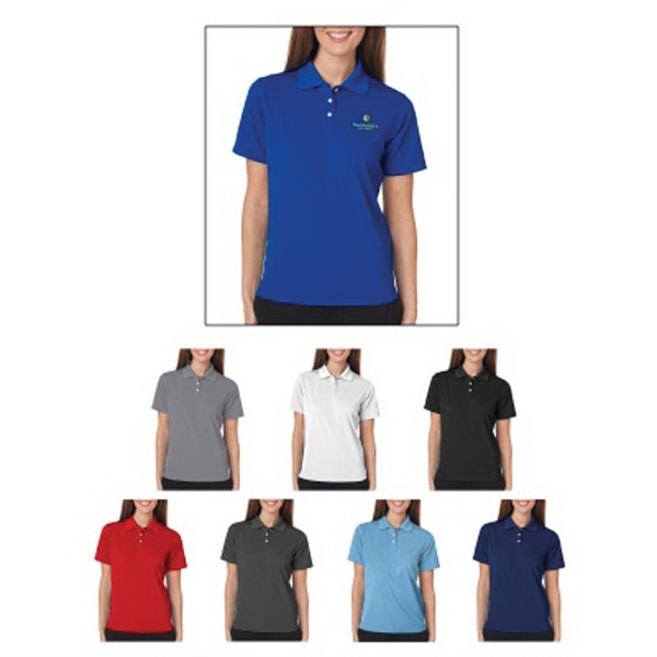 UltraClub(R)Ladies Cool & Dry Stain-Release Performance Polo