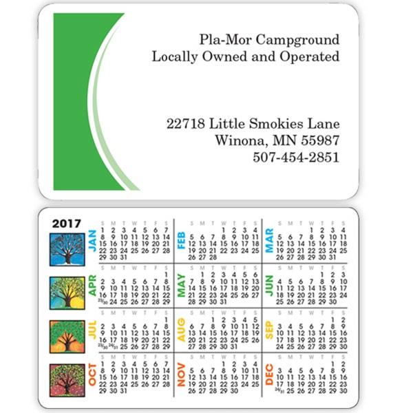 Four Seasons Wallet Calendar - Wallet calendar made of card stock.