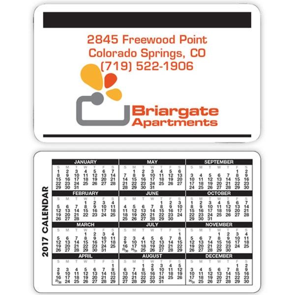 Black & White Wallet Calendar - Wallet calendar made of card stock.