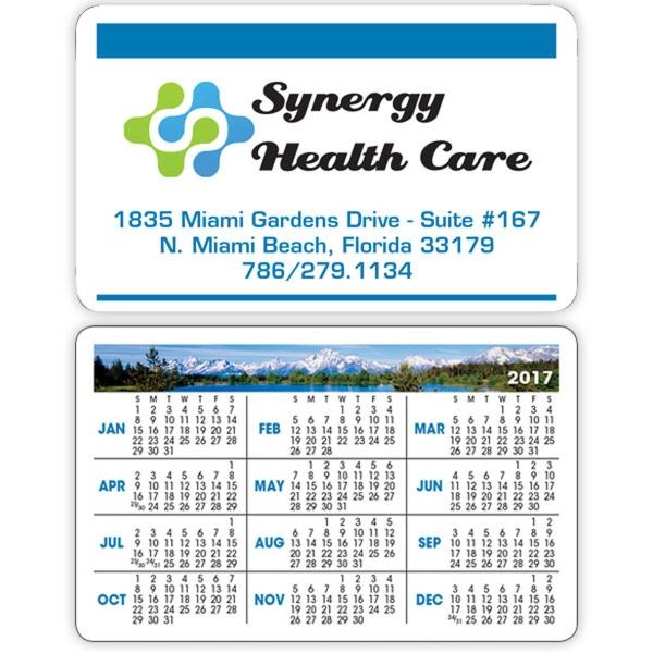 Scenes Wallet Calendar - Wallet calendar made of card stock.