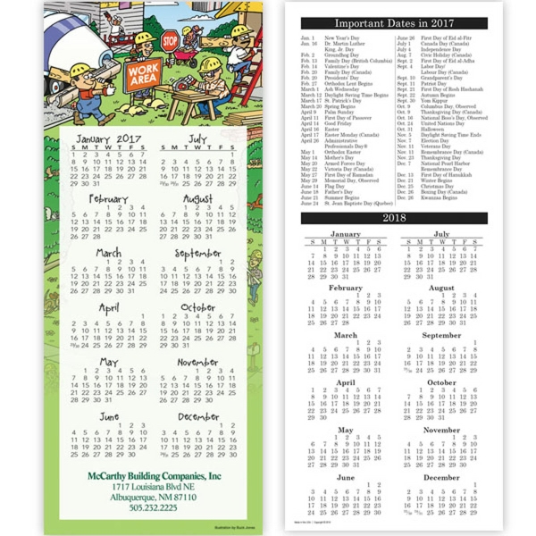 Economy Collection 2-Sided Contractor Calendar