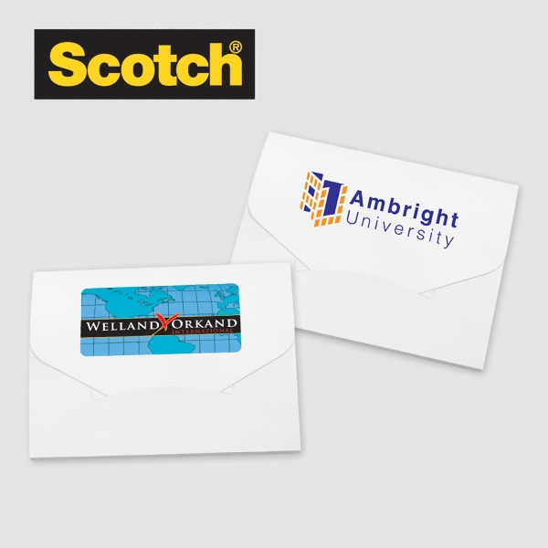 Scotch Lint Sheets Pocket Pack - Scotch Lint sheets pocket pack, choice of stock background design, 4 Color Digital Imprint.