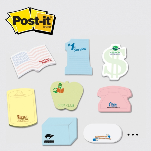 "Custom Printed Notes Shapes - Medium custom printed die cut note pad cut from 3"" x 4"" pad with 25 sheets."