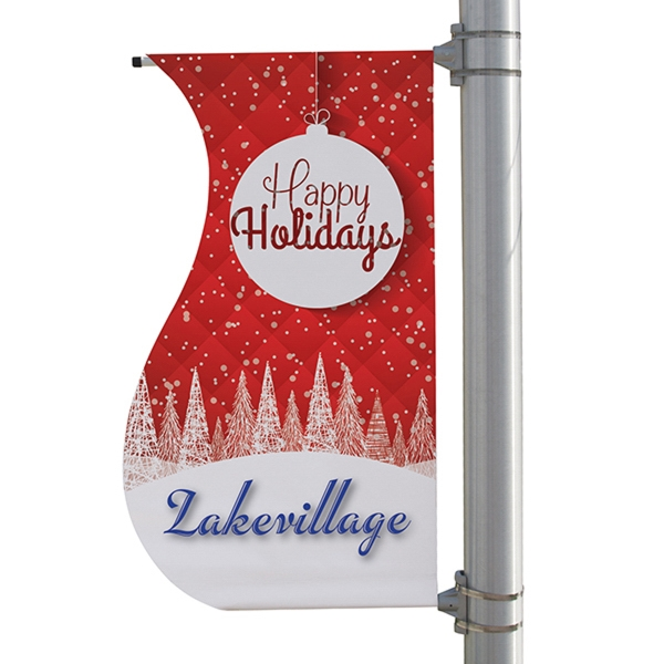 "24"" x 48"" 18 oz Opaque Material S-Shaped Boulevard Banner"