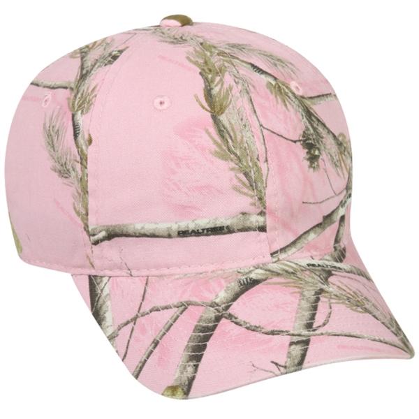Ladies Washed Pink Realtree® Xtra® Camo Cap