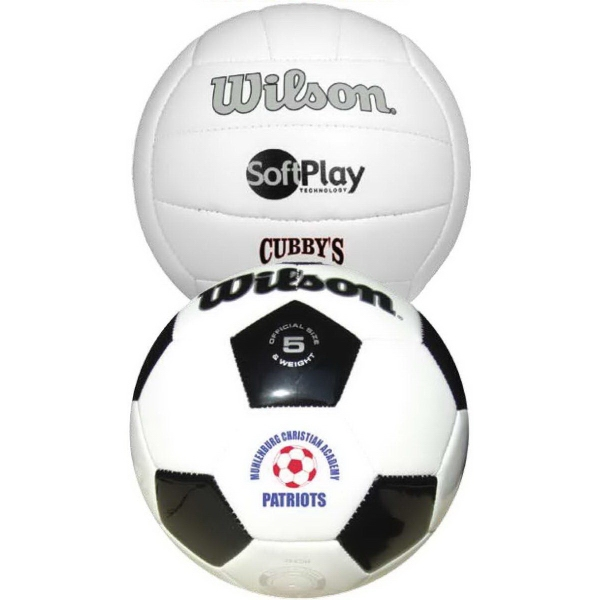 Wilson (R) Premium Synthetic Leather Soccer Ball
