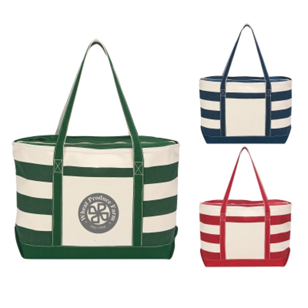 Cotton Canvas Nautical Tote