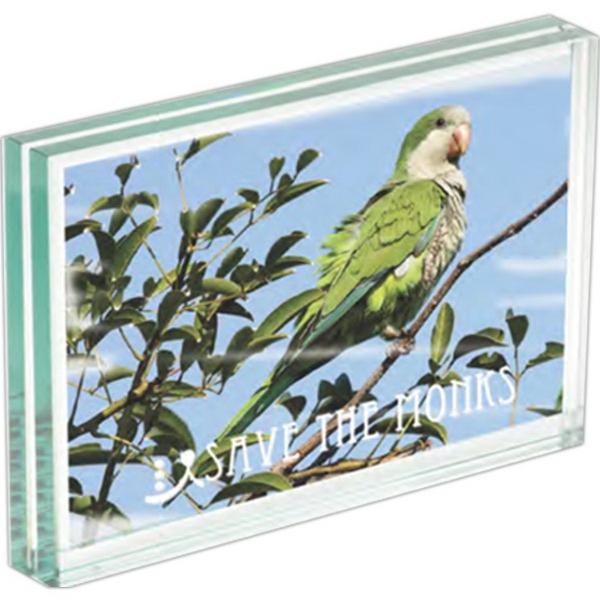Atrium (TM) Glass Medium Desk Photo Frame