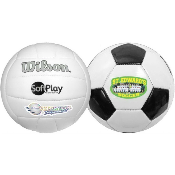 Full Size Synthetic Leather Soccer Ball (Full color)