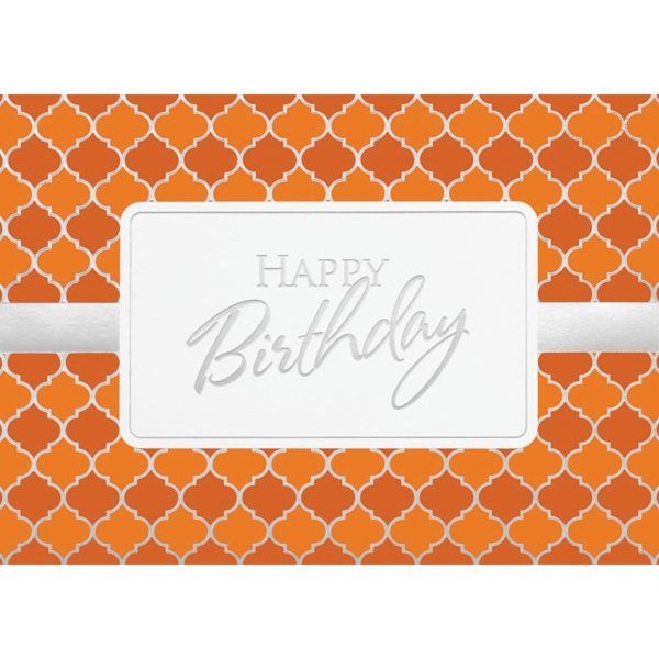 Orange & Silver Pattern Card