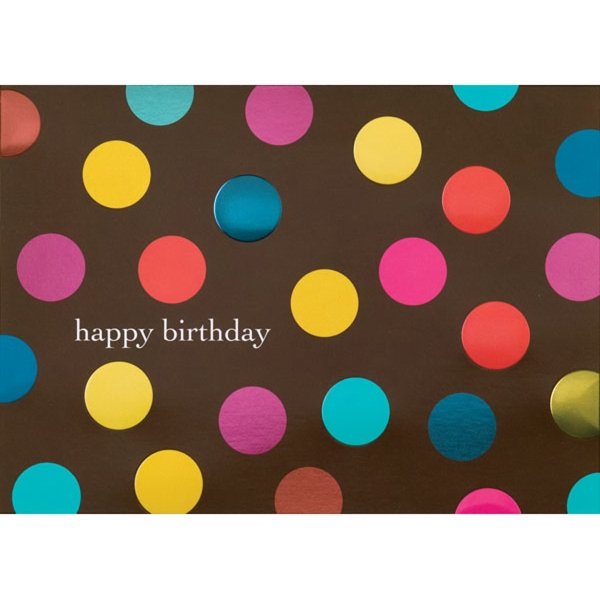 Banner Dots Greeting Card