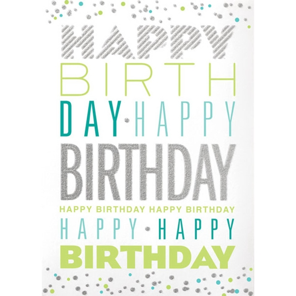 Glitter Birthday Type Greeting Card
