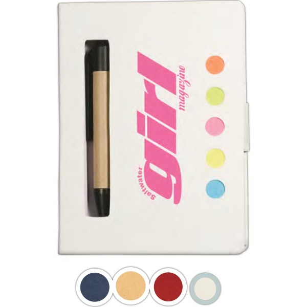 Eco Stowaway Sticky Jotter With Pen