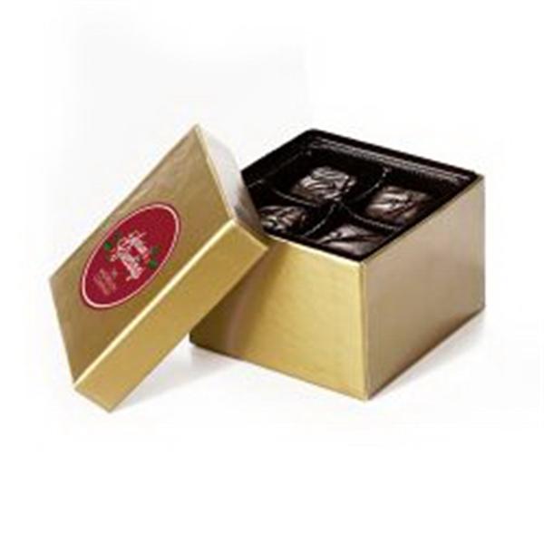 Gift Box 4 pcs Dark Choc Meltaways w/ Direct Print