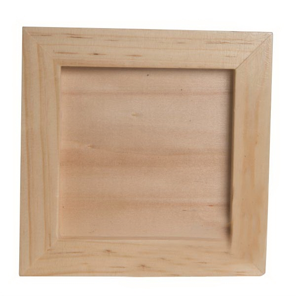Wooden stand for cube puzzle