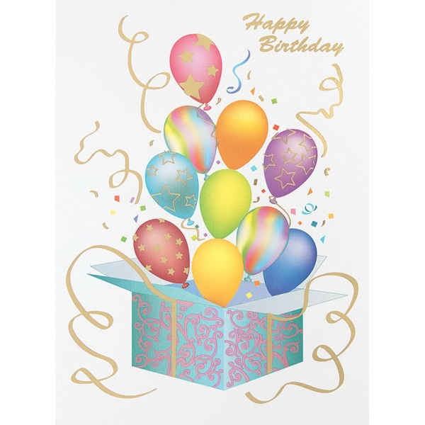 Box of Balloons Greeting Card