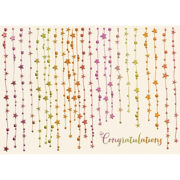Falling Stars Congratulations Greeting Card