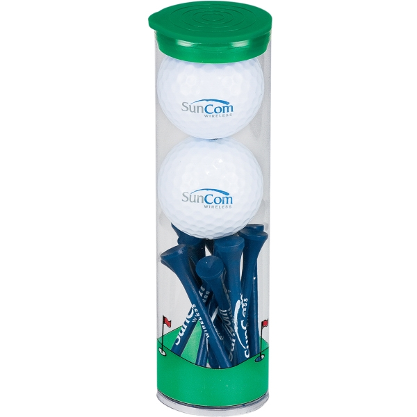2 Ball Tall Tube w/ Wilson Ultra Distance Golf Ball