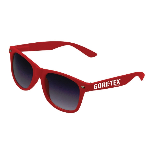 Matte Sunglasses w/ Rubber Arms
